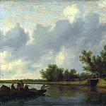 Salomon van Ruysdael – A River Landscape with Fishermen, Part 6 National Gallery UK