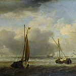 Part 6 National Gallery UK - Willem van de Velde - Dutch Ships and Small Vessels Offshore in a Breeze