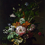 Rachel Ruysch – Flowers in a Vase, Part 6 National Gallery UK