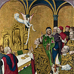 Workshop of the Master of the Life of the Virgin – The Mass of Saint Hubert – Right Hand Shutter, Part 6 National Gallery UK
