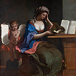 guercino – the samian sibyl with a putto, Part 6 National Gallery UK