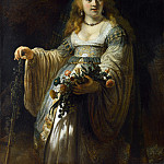 Rembrandt – Saskia van Uylenburgh in Arcadian Costume, Part 6 National Gallery UK