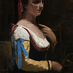 Part 6 National Gallery UK - Jean-Baptiste-Camille Corot - Italian Woman