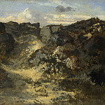 Theodore Rousseau – A Rocky Landscape, Part 6 National Gallery UK