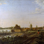 Willem van Drielenburgh – A Landscape with a View of Dordrecht, Part 6 National Gallery UK