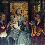 Quinten Massys – The Virgin and Child with Saints Barbara and Catherine, Part 6 National Gallery UK