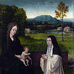 Style of Joachim Patinir – The Virgin and Child with a Cistercian Nun, Part 6 National Gallery UK