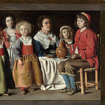 The Le Nain Brothers – A Woman and Five Children, Part 6 National Gallery UK