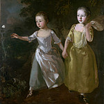 Thomas Gainsborough – The Painters Daughters chasing a Butterfly, Part 6 National Gallery UK