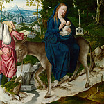 Workshop of the Master of 1518 – The Flight into Egypt, Part 6 National Gallery UK