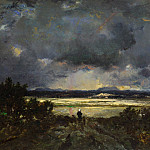 Theodore Rousseau – Sunset in the Auvergne, Part 6 National Gallery UK