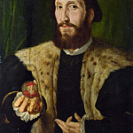 Style of Jan Cornelisz. Vermeyen – A Man holding a Coloured Medal, Part 6 National Gallery UK