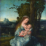 The Virgin and Child in a Landscape, Bernaert Van Orley