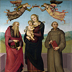 Pietro Perugino – The Virgin and Child with Saints Jerome and Francis, Part 6 National Gallery UK
