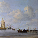 Part 6 National Gallery UK - Willem van de Velde - Boats pulling out to a Yacht in a Calm