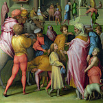 Pontormo – Joseph sold to Potiphar, Part 6 National Gallery UK