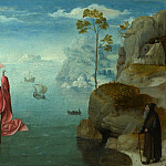 Style of the Master of the Female Half-Lengths – Saint Christopher carrying the Infant Christ, Part 6 National Gallery UK
