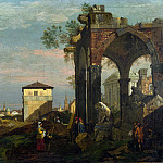 Style of Bernardo Bellotto – A Caprice Landscape with Ruins, Part 6 National Gallery UK