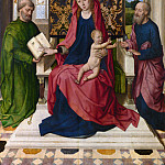 Workshop of Dirk Bouts – The Virgin and Child with Saint Peter and Saint Paul, Part 6 National Gallery UK