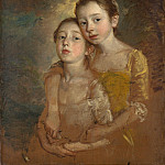 The Painters Daughters with a Cat, Thomas Gainsborough