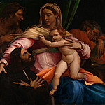 Sebastiano del Piombo – The Madonna and Child with Saints and a Donor, Part 6 National Gallery UK