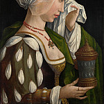 Workshop of Master of the Magdalen Legend – The Magdalen Weeping, Part 6 National Gallery UK