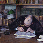 Part 6 National Gallery UK - Portrait of the Bookseller E. J Fontaine - Gustave Caillebotte