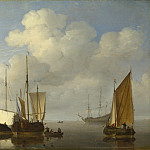 Willem van de Velde – Dutch Ships in a Calm, Part 6 National Gallery UK