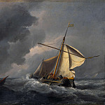 Willem van de Velde – A Dutch Vessel in a Strong Breeze, Part 6 National Gallery UK