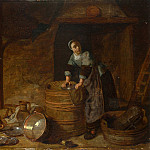 Pieter van den Bosch – A Woman scouring a Pot, Part 6 National Gallery UK