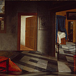 Samuel van Hoogstraten – A Peepshow with Views of the Interior of a Dutch House, Part 6 National Gallery UK