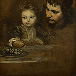 Spanish – A Man and a Child eating Grapes, Part 6 National Gallery UK