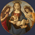 Workshop of Sandro Botticelli – The Virgin and Child with Saint John and an Angel, Part 6 National Gallery UK