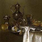 Willem Claesz. Heda – Still Life – Pewter and Silver Vessels and a Crab, Part 6 National Gallery UK