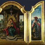 the workshop of Pieter Coecke van Aalst – The Virgin and Child Enthroned, Part 6 National Gallery UK