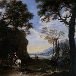 Salvator Rosa – Landscape with Travellers asking the Way, Part 6 National Gallery UK