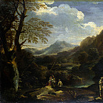 Style of Salvator Rosa – Mountainous Landscape with Figures, Part 6 National Gallery UK