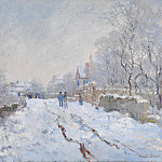 Part 2 National Gallery UK - Claude-Oscar Monet - Snow Scene at Argenteuil