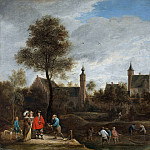 A View of Het Sterckshof near Antwerp, David II Teniers