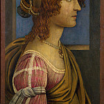 Part 2 National Gallery UK - Follower of Sandro Botticelli - A Lady in Profile