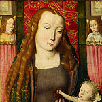 Part 2 National Gallery UK - Follower of the Master of the Saint Ursula Legend (Bruges) - The Virgin and Child with Two Angels