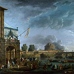 A Sporting Contest on the Tiber at Rome, Claude-Joseph Vernet