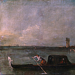 Part 2 National Gallery UK - Francesco Guardi - A Gondola on the Lagoon near Mestre