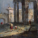 Part 2 National Gallery UK - Francesco Guardi - Caprice View with Ruins