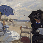 The Beach at Trouville, Claude Oscar Monet