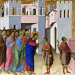 Part 2 National Gallery UK - Duccio - Jesus opens the Eyes of a Man born Blind