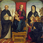 Part 2 National Gallery UK - Follower of Pietro Perugino - The Virgin and Child with Saints
