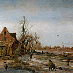 Esaias van de Velde – A Winter Landscape, Part 2 National Gallery UK