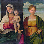 Part 2 National Gallery UK - Francesco Bissolo - The Virgin and Child and Saints