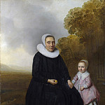 Part 2 National Gallery UK - Dutch - Portrait of a Seated Woman and a Girl in a Landscape